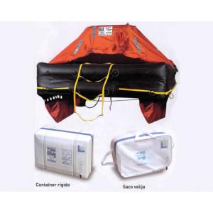Balsa salvavidas para 4 personas con todos los implementos